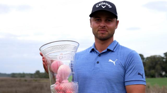 PGA TOUR | Adam Svensson interview after winning the Club Car Championship