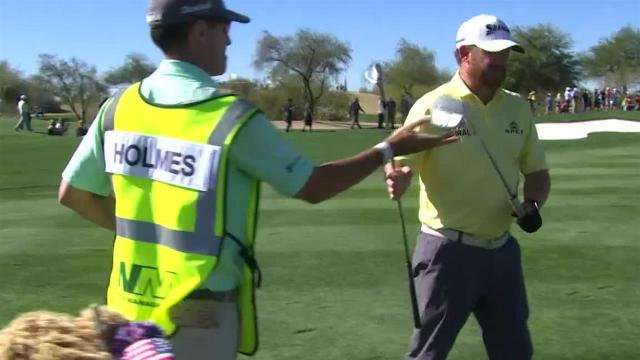 J.B. Holmes spins approach to set up birdie at Waste Management