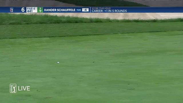 Xander Schauffele leads the field off the tee at the Memorial Tournament