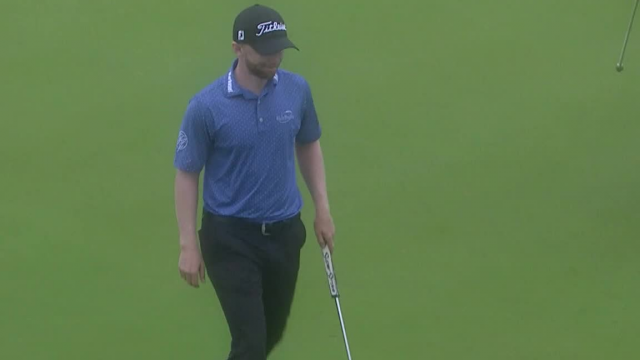 Anders Albertson's 31-foot putt to save par at Valero