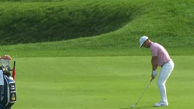 Paul Casey birdies No. 17 in Round 3 at Travelers
