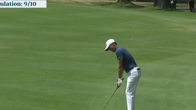 Justin Thomas gets up-and-down for birdie at WGC-Mexico