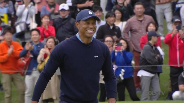 Tiger Woods gets up-and-down for par at MGM Resorts The Challenge