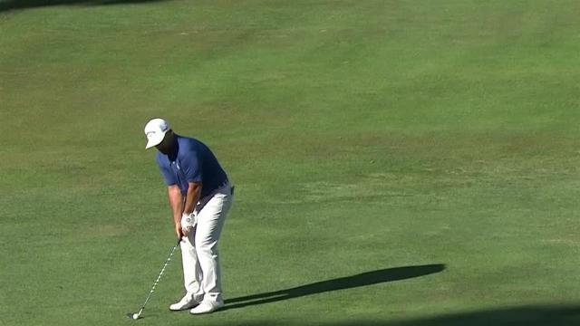 Scott Brown's hole-out eagle chip shot from 44 feet at Safeway Open