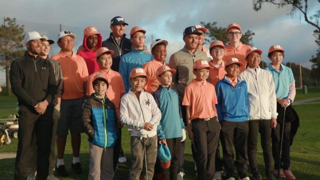 Rickie Fowler and Billy Horschel host youth golf clinic at Farmers