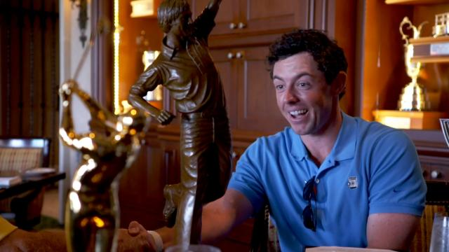 Rory McIlroy surprised with Player of the Year award