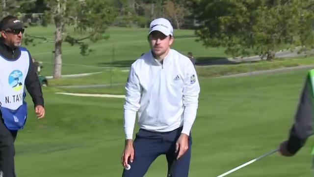 Nick Taylor uses nice approach to set up birdie at AT&T Pebble Beach
