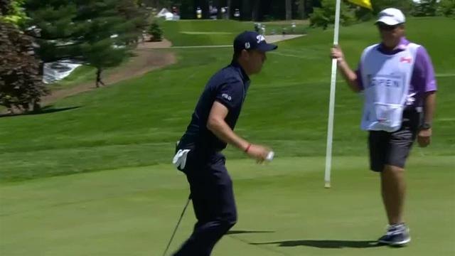 Justin Thomas drives par-4 green to set up birdie at RBC Canadian