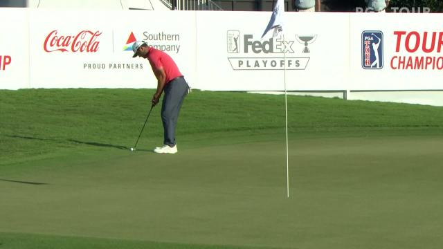 Jon Rahm makes birdie on No. 18 in Round 4 at TOUR Championship