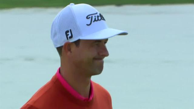 Adam Scott's smart birdie putt from the fringe at Arnold Palmer