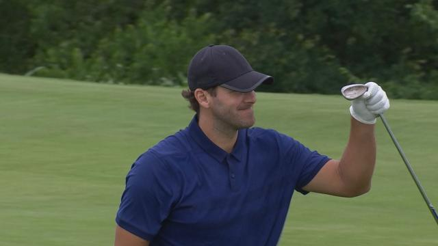 Tony Romo's chip-in eagle at AT&T Byron Nelson