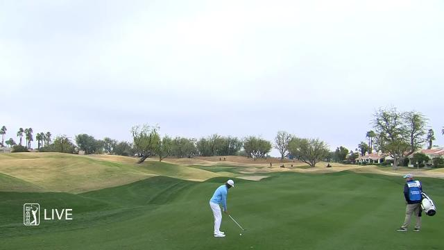 Aaron Baddeley uses nice approach to set up birdie at The American Express