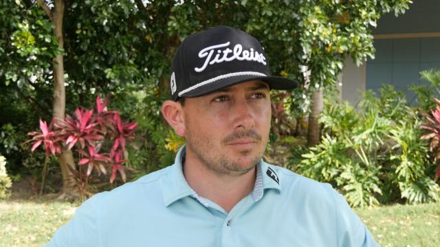 Joshua Creel interview after round one of The Bahamas Great Exuma Classic at Sandals Emerald Bay