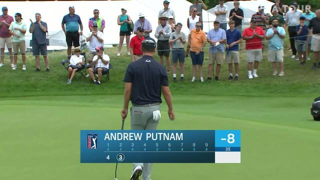Andrew Putnam uses nice approach to set up birdie at Travelers
