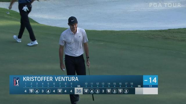 PGA TOUR   Kristoffer Ventura birdies No. 17 in Round 4 at Sanderson Farms