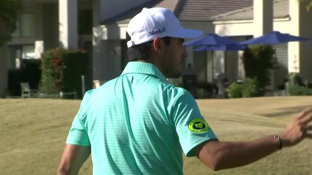 Abraham Ancer drains 22-footer for birdie at The American Express
