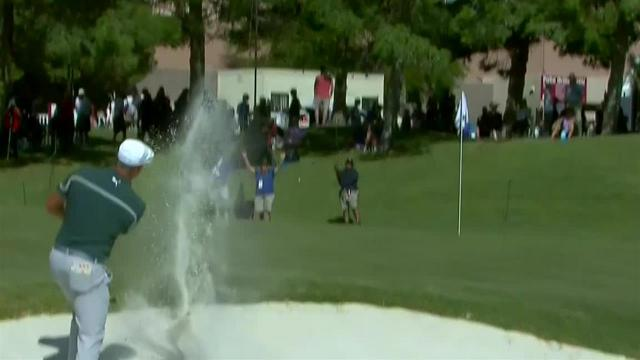 Bryson DeChambeau gets up-and-down for birdie at Shriners