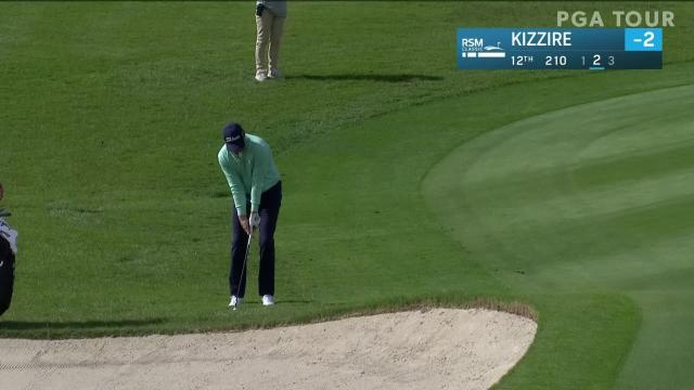 Patton Kizzire sinks a 45-foot birdie on No. 12 in Round 1 at The RSM Classic