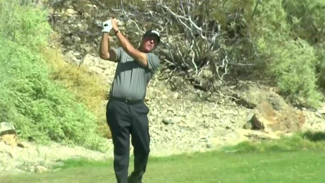 Phil Mickelson's approach to 5 feet sets up birdie at Shriners