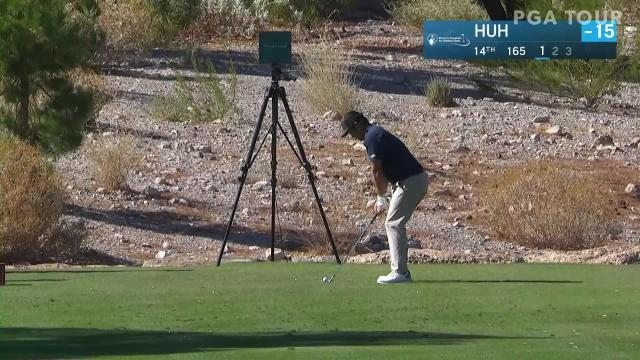 John Huh's tight tee shot leads to birdie at Shriners