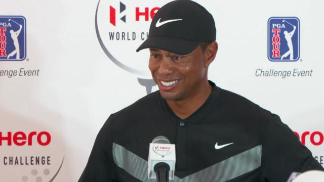 Tiger Woods' interview following round 1 at Hero