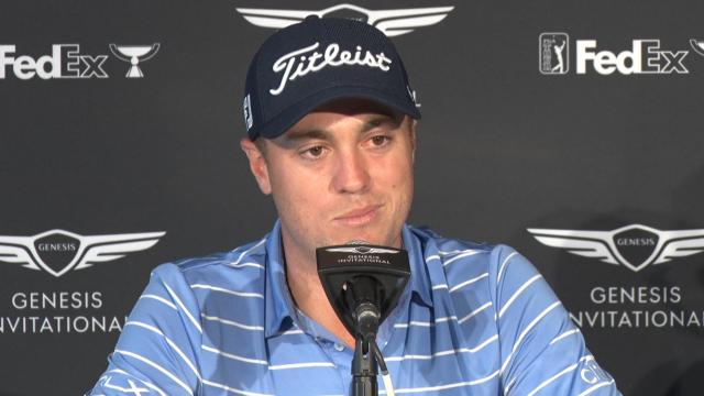 Justin Thomas on competing with Tiger before Genesis