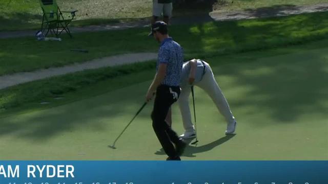 Sam Ryder rolls in 21-foot birdie putt at The Greenbrier