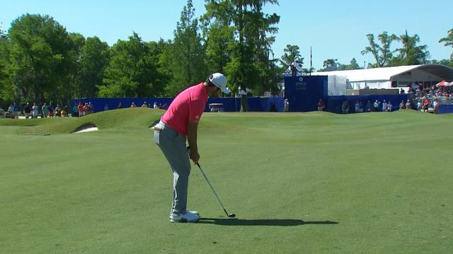 Today's Top Plays: Jon Rahm's near-eagle approach for Shot of the Day