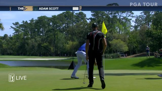 Adam Scott birdies No. 6 at THE PLAYERS