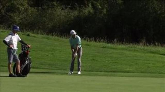 Will Zalatoris' solid approach on No. 13 at the WinCo Foods