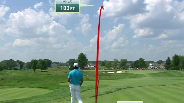 Hideki Matsuyama's 194-yard tee shot sets up birdie putt at 3M Open