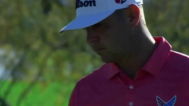 Gary Woodland's approach to 10 feet leads to birdie at Waste Management