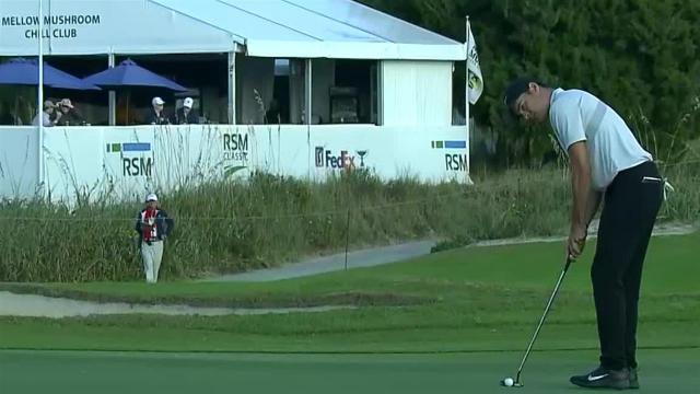 Kristoffer Ventura's 21-foot birdie putt at The RSM Classic