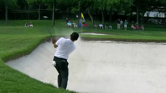 C.T. Pan gets up-and-down from bunker for birdie at Charles Schwab