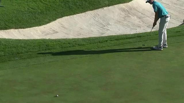 Mackenzie Hughes birdie putt from the fringe at Safeway Open