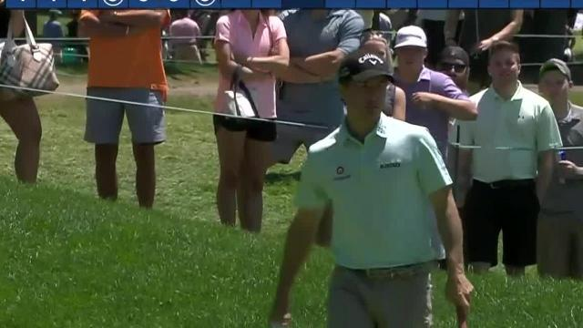 Kevin Kisner buries 24-foot birdie putt at Travelers