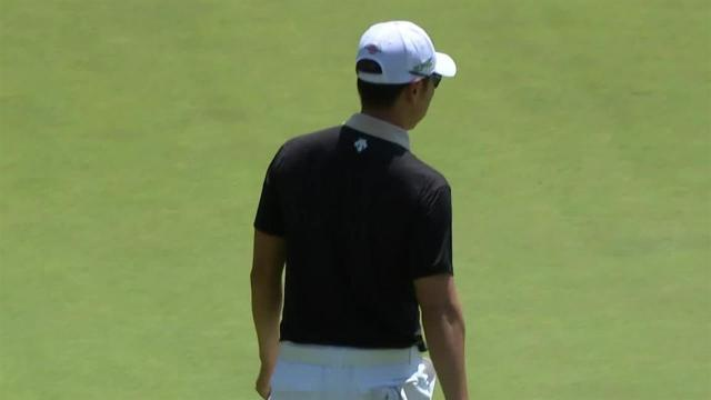 Sangmoon Bae gets up-and-down from bunker at Travelers