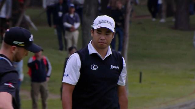 Hideki Matsuyama drains birdie putt on No. 4 at ZOZO