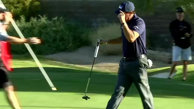 Phil Mickelson's third to 4 feet leads to birdie at Shriners