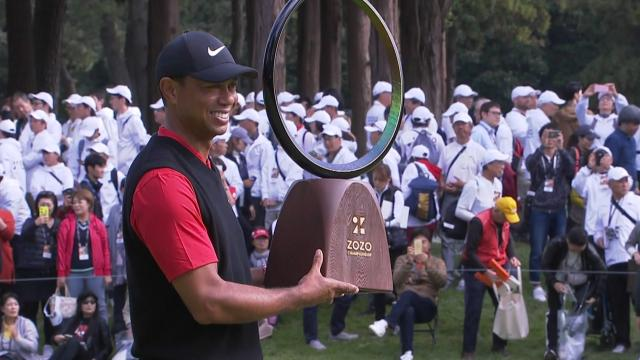 Tiger Woods earns 82nd victory at ZOZO
