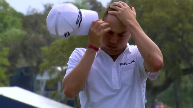 Justin Thomas gets up-and-down for closing birdie at THE PLAYERS