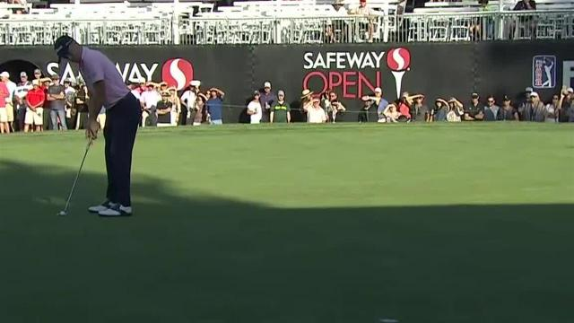 Justin Thomas sinks 19-foot eagle on No. 18 at Safeway Open
