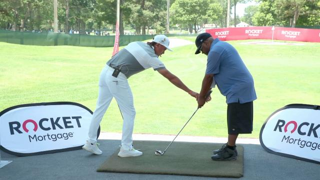 Rickie Fowler helps kick off Shot for Heroes, giving back to the military