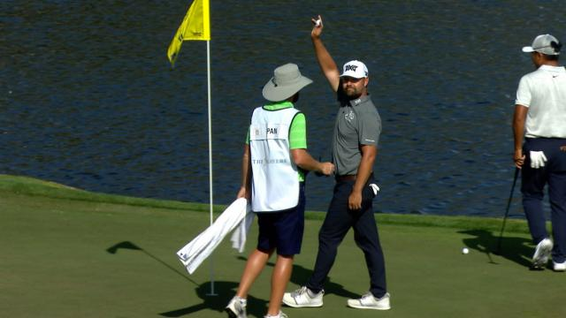 Ryan Moore commenting after his ace on the 17th at THE PLAYERS