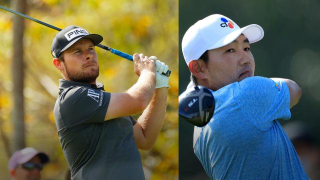 Tyrrell Hatton and Sung Kang share the lead at Arnold Palmer