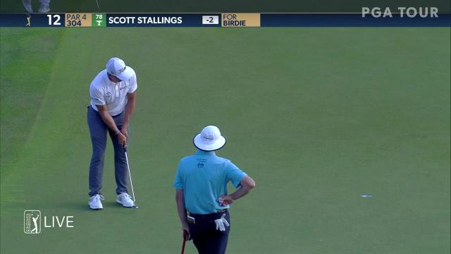 Scott Stallings gets up-and-down for birdie at THE PLAYERS
