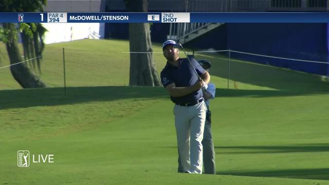Graeme McDowell uses nice approach to set up birdie at Zurich Classic