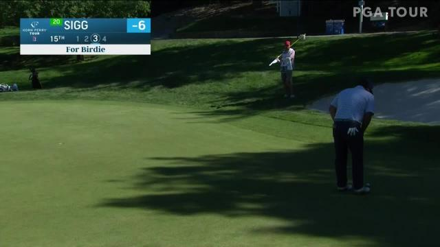 Greyson Sigg makes birdie on No. 15 in Round 2 at Albertsons Boise Open