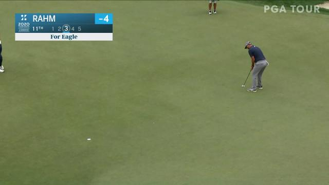 Jon Rahm sinks 21-footer for eagle at ZOZO