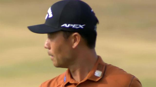 Kevin Na rolls in 17-foot putt for birdie at The American Express